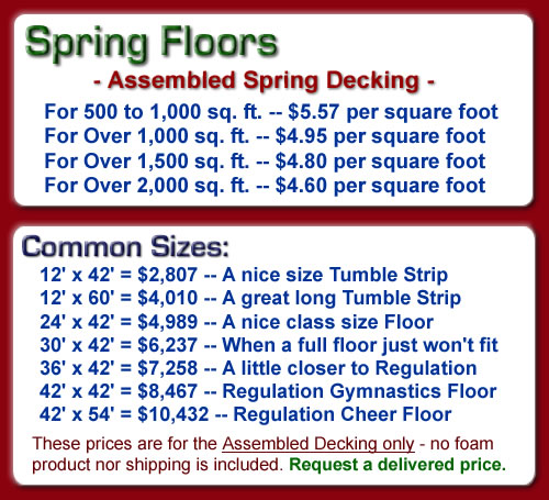 Spring Floor Pricing