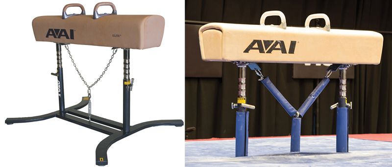 Pommel Horse Upright Pads and Tie-Down System - AAI