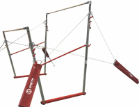 A - All-American Uneven Bars w/Natural Fiber Competition Rails - SA