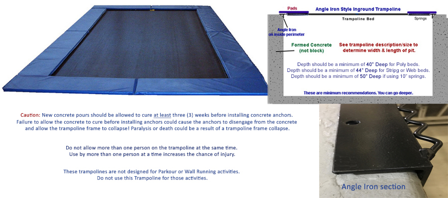 Inground Trampolines (Angle Iron Style)