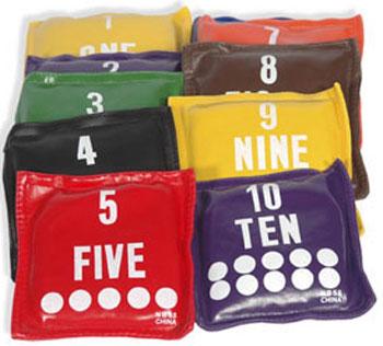 The American Gym Bean Bag Set Numbers Preschool D Nb55